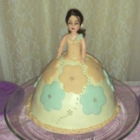 My First Doll Cake Made For My Daughter My Third Cake In Two Months The First One Melted Second One Held Up And So Tried This My first doll cake, made for my daughter.My third cake in two months the first one melted : ( ,second one held up : ) and so tried this.