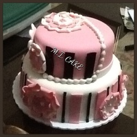 Pink White And Brown Cake Its My Second Full Foundant Cake So Much To Learn Better Planing And Having Correct Tools I Had Fun With It Pink, white and brown cake. It's my second full foundant cake so much to learn. Better planing and having correct tools. I had fun...