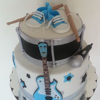 Rock Star Baby Shower Cake
