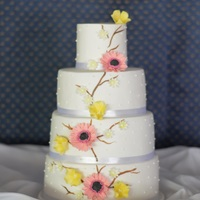 Gerberas And Wild Flowers Cake Gerberas and wild flowers cake,