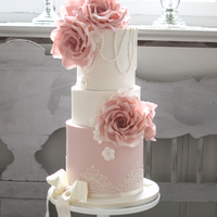 Vintage Roses And Lace Wedding Cake Made this cake for a wedding in June. Hope you like it! Uta xxx