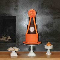Orange And Bown Wedding Cake
