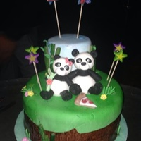 Pandas 27Th Birthday/we're Having A Baby My friend asked me to make her hubbies birthday cake Panda for a man turning 27 you might say well everyone calls him Panda and they just...