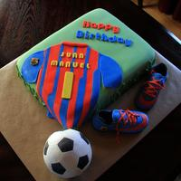 Soccer Birthday Cake *Soccer Birthday cake, 100% edible.