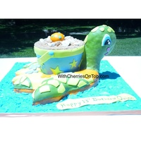 Icing Smiles: Turtle Swim Ring Cake My first cake for Icing Smiles Inc., it was such an honor to be a part of this effort! The turtle was a replica of the child's pool...