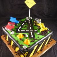 Construction Cake Construction cake with Tonka Toys