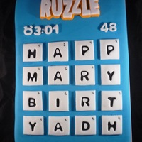 Ruzzle Cake Based on the game app Ruzzle