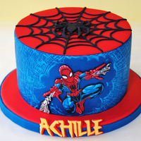 The Amazing Spiderman Cake My friend asked me to did spiderman cake. Well usually i always make cute subject and this cake challange me.I hand cut all the spidey, the...