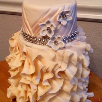 Practice: You'll Never Guess What's Underneath I wanted to practice ruffles, so...I did. Lesson: Make sure ruffles are flush with top edge of the cake being covered. Tip: every 3rd or...