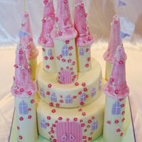 Princess Castle Princess castle cake for two princesses :)