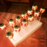 Eyeball Cake Pops eyeball cake pops