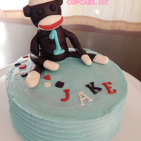 Sock Monkey Smash Cake For 1St Birthday I made this smash cake for a mom who wanted a sock monkey topper to keep as a momento. All edible. I miss this little sock monkey...he...