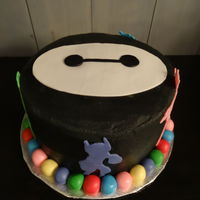 Big Hero 6 Inspired Cake This cake I made for my son's 4th birthday. It's a Big Hero 6 inspired cake (front). Buttercream with fondant accents. The ball...