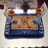 Rupp Arena Cake Goals Are Cut Down Sugar Cones With Modeling Chocolate Rims Gum Pastefondant Backboard And Pirouttee Cookies Wrapped I  Rupp Arena cake. Goals are cut down sugar cones with modeling chocolate rims, gum paste/fondant backboard and pirouttee (cookies) wrapped...
