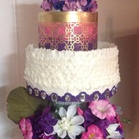 Purple Fuschia White Amp Gold Color Schemes This Happens To Be My First Wedding Cake I Tried A Lot Of New Techniques For Me At Least Purple, fuschia, white & gold color schemes. This happens to be my first wedding cake. I tried a lot of new techniques (for me at least...