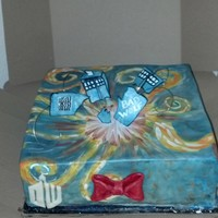 Sonic Screwdriver 11Th Doctor Whovian Exploding tardis chocolate cake modeling chocolate/ fondant