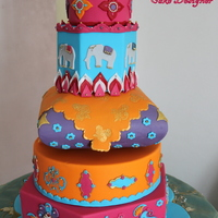 Indian Rainbow My wedding cake in Bollywood style with the colour of India