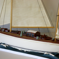 A 2 Ft Chocolate Cake Model Of A Vintage Fife Yacht For A Celebration Of 90 Years At The Fife Yacht Regatta   A 2 ft chocolate cake model of a vintage Fife yacht for a celebration of 90 years at the Fife yacht regatta