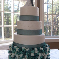 Teal Wedding Cake Jpg