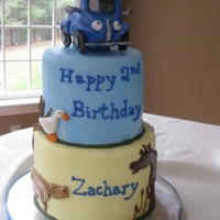Little Blue Truck Cake Little blue truck cake.