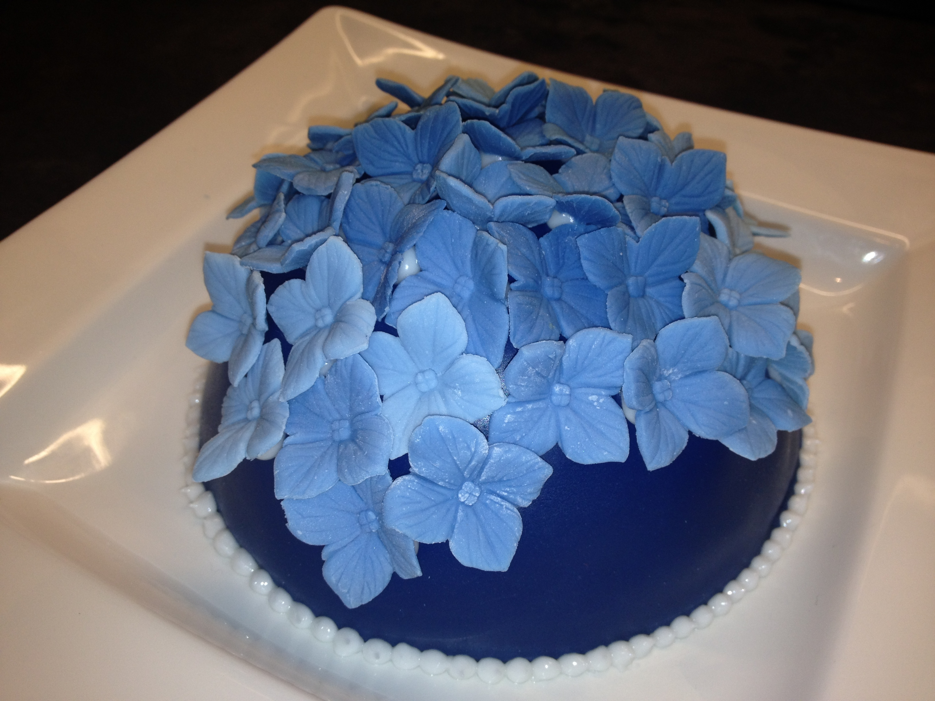 Blue Hydrangea Birthday Dome