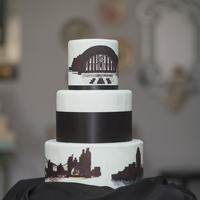 Maribelle Cakery's Cincinnati Skyline Cake Maribelle Cakery's Cincinnati Skyline cake with Cincinnati Museum Center and view of skyline from Northern Kentucky. Fondant cake hand...