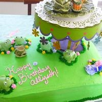Frog Tea Party I made this cake for my neice's birthday. She loves frogs, and the party was a tea party theme. All the little girls came dressed up...