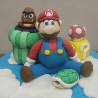 Super Mario Brother Cake: Level 1:1 A joint birthday cake for all of my friends (and myself included)! We all were introduced to gaming on the Nintendo and for my first...