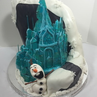 Frozen Castle Cake Mountain Is Made Of Cake Castle Is Rkt Wsugar Shards And Olaf Is Fondant Frozen Castle Cake. Mountain is made of cake. Castle is rkt w/sugar shards and Olaf is Fondant.