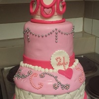 A Princess Cake For A 4 Year Old Princess A princess cake for a 4 year old princess.