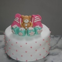 Baby Shower Cake Teddy Bear Booties And Baby Blocks Baby shower cake. Teddy bear, booties and baby blocks.