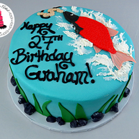 Simple Fishing Themed Cake Simple Fishing Themed Cake! In the weeks tutorial, I am going to show you how to make a simple fishing themed cake! I will show you how to...