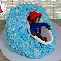 Paddington Bath Tub Cake, With 100% Edible Figurine! I <3 Paddington, he is so adorable! I hope you guys really like my take on Paddington the bear!