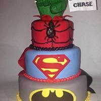 Superhero Cake Batman Superman Spiderman Hulk Fist *Superhero cakeBatman, Superman, Spiderman, Hulk fist