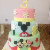 Mickey Mouse Clubhouse Cake For A Little Girl Mickey Mouse clubhouse cake for a little girl