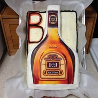 3D E&j Liquor Bottle First try at this E&J liquor bottle 3D cake, now that I look at it, maybe the letter B could have been omitted... Well I'll have...