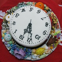 "Wheel Of The Year Cake A Simple Clock Face Cake With Detachable Side Ornaments Each Section Represents The Seasons Solstices And Equin ""Wheel of the Year"" cake, a simple clock face cake with detachable side ornaments. Each section represents the seasons, solstices..."