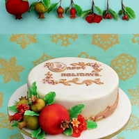 Pomegranate Christmas Cake Pomegranate Christmas Cake.