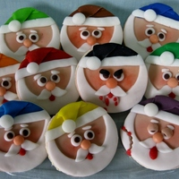"Bad Santa Sugar Cookies ""Bad Santa"" sugar cookies."