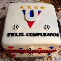 Quito Soccer Club Cake   Quito soccer club cake