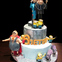 Despicable Me 2 Cake for the 6th birthday of my son