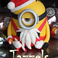 A Santa Minion My Christmascake For 2013 Made As An Example For A Workshop And Inspiration For The Customers Who Visit My Shop In Holland A Santa Minion, my Christmascake for 2013. Made as an example for a workshop and inspiration for the customers who visit my shop in Holland...