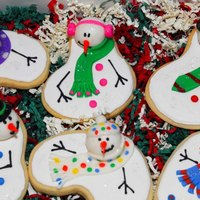 Melting Snowman Cookies *Melting Snowman Cookies