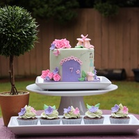 A Fairy Garden Cake For A Little Girl Turning 7 A fairy garden cake for a little girl turning 7.