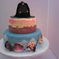 Star Wars Angry Bird Cake With Darth Vader Cake Topper Star Wars Angry Bird Cake with Darth Vader Cake Topper