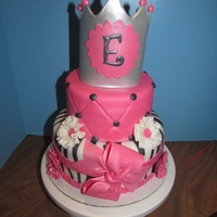 Princess Cake For A First Birthday Party Princess cake for a first birthday party.