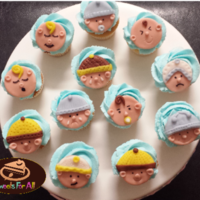 Baby Shower Boy Cupcakes With Fondant Toppers Baby Shower Boy Cupcakes with fondant toppers: facial expressions of baby fondant toppers :) so happy how it turned out how do you like...