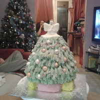 The First Cakes I Have Ever Made. 5th cake ever madeFront of the Christmas tree cake I made 2013