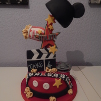 Mickey Movie Themed Cake This was my first attempt at using my cake frame