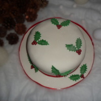 My First Christmas Cake I am new to cake decorating and this is my first Christmas cake, rich fruit cake with brandy, marzipan and icing